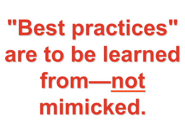 Famous Quotes About Practice: You Can't Benchmark Your Way To Greatness